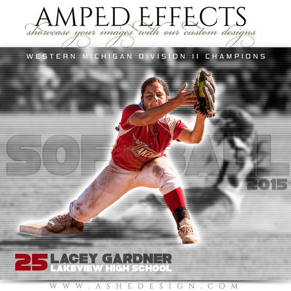 Amped effects sports collages standout 8x10 16x20 for Sports team photography templates