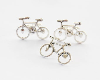 Cyclist Gifts for Men, Bicycle GIft Set, Bike Cufflinks and Tie PIn, Cyclist Gifts, Biking Gifts, Bicycle Tie Tack, Cyclist Cufflinks, Bikes