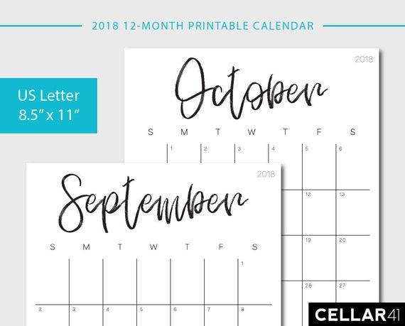 calendar monthly printable