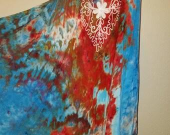 Rayon Embroidered Sundress, O/S