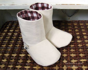 Charlie Baby Boots PDF Sewing Pattern (#72)