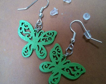 Earrings Butterfly - Original balsa wood