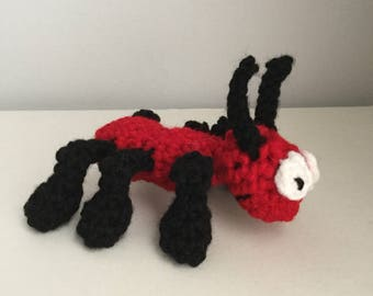Made to Order: Crochet Amigurumi Cute Red Ant Plush