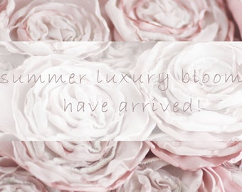 Luxury Summer Rose Bloom Cashmere Collection - Cherry Blossom Fizz - Rose Pins have arrived!