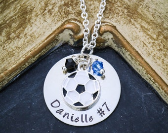 Soccer Necklace Personalized Soccer Team Gift • Soccer Mom Gift • Soccer Ball Soccer Player Gift • Soccer Coach Gift Kids Soccer