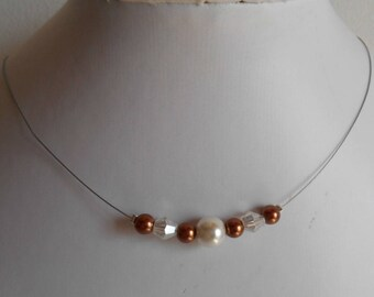 """Necklace """"collection harmony"""" sweet chocolate"""