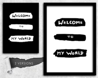 Depeche Mode welcome to my world instant download A1 A2 A3 A4 A5 16 x 20 18 x 24 24 x 36 50 x 70 60 x 90 CM + US sizes