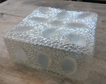 large ceiling or wall year 60 vintage molded glass