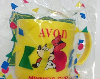 Avon 1994 Yellow Walt Disney Minnie Mouse Cup- unopened