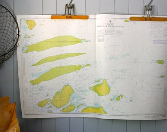 Maritime Nautical Chart Torres Strait Map Prince of Wales Channel Navigation Boating Styling Interior Design Coastal Decor Beach House Style