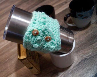 Baby Blue Coffee Cozy