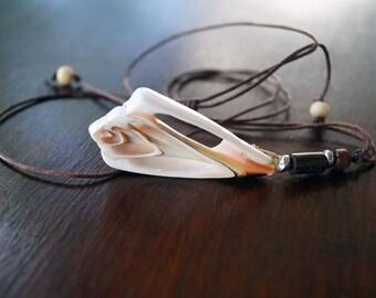 Unisex Shell Necklace, Boho Necklace, Men's Necklace, Surfer Jewelry
