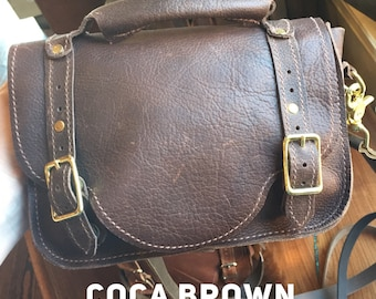 Cocoa Brown Leather Crossbody bag