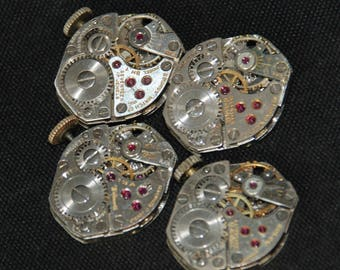 Vintage Watch Movements Parts Steampunk Altered Art Assemblage RT 57