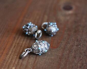 Faberge Drop with Aqua Stones