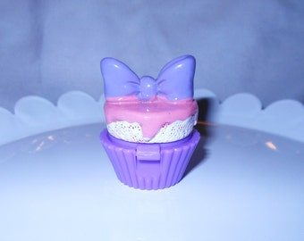 Pink Frosted Cupcake shaped lip gloss