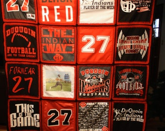 T-Shirt quilt, memory blanket, t shirt quilt, Memory quilt,  Made to order
