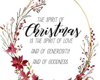 Digital Print- Spirit of Christmas