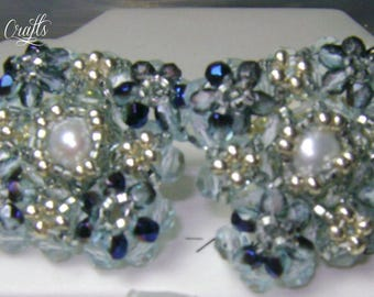 Swarovski beads earrings