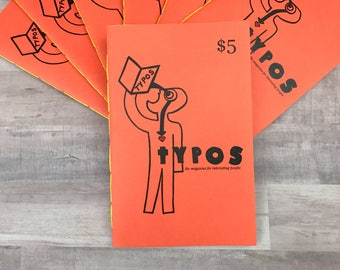 TYPOS #5 - The Magazine For Interesting People - Book Lover - Handmade Zine - Small Press - Literary Lovers - Writer - Author - Artist