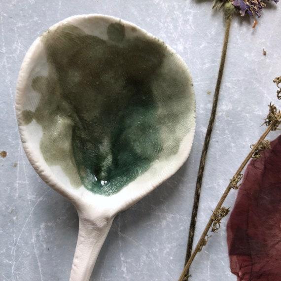 Spoon porcelain spoon handmade ceramics