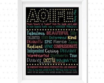 Custom Name Gift - Word Collage, Bespoke Word Art, Personalized Name Art, Custom Word Art Print, Personalized Name Wall Art, Name Word Art