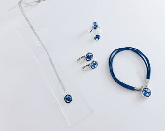"Jewelry set ""Cornflower of Nesvizh"""