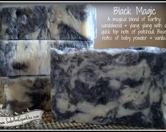 Black Magic - Rustic Suds Natural - Organic Goat Milk Triple Butter Soap Bar - 5-6oz. Each