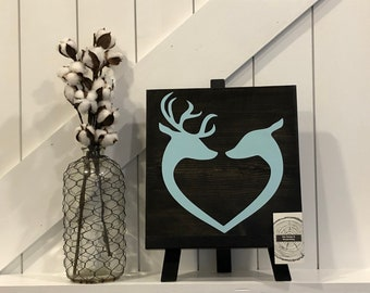 Buck & Doe in Love - Browning - Wedding - Anniversary - Gift for him - Gift for her