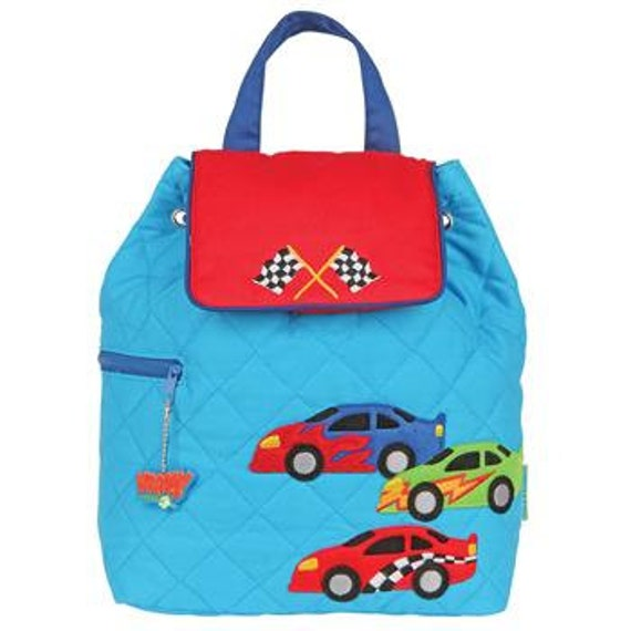 Stephen Joseph Quilted Racecars Backpack