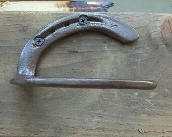 Horseshoe Handle, Blacksmith Made, Real Horseshoes, Worn by Horses, Door Pull