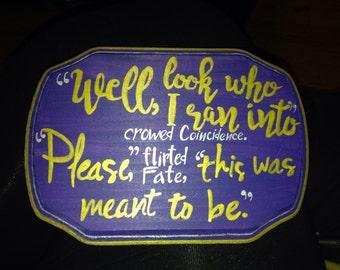 Joseph Gordon Levitt quote plaque