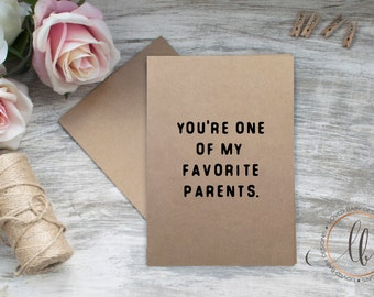 Mother's Day Card - Greeting Card for Parent - Mom Birthday Card - Dad Birthday Card - Mother's Day Card - Father's Day Card, Blank Inside
