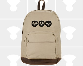 Three Musketeeres - Leather Bottom Laptop Backpack