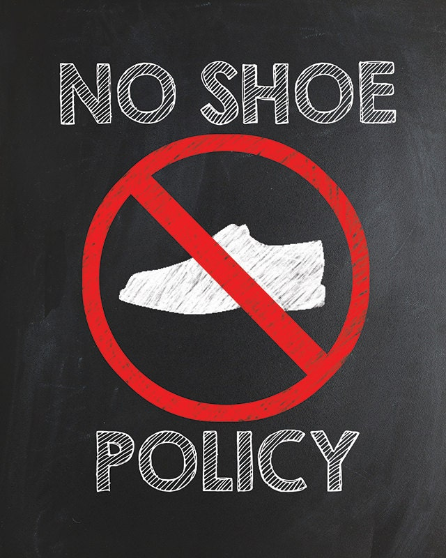 Luscious image pertaining to no shoes sign printable
