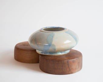 Vintage Stoneware Studio Pottery Bowl Blue Pottery Bowl
