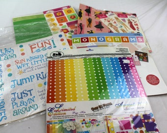 lot of 5 designing done for you scrapbook page kit