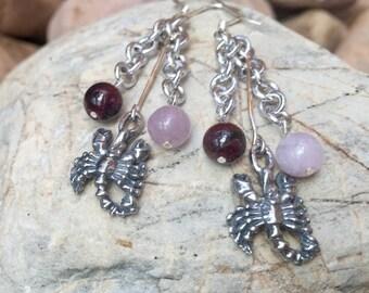 Scorpio gemstone earrings