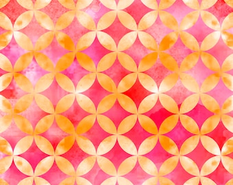 Circle Geo - Pink 24677-P by Quilting Treaasures Cotton Fabric Yardage