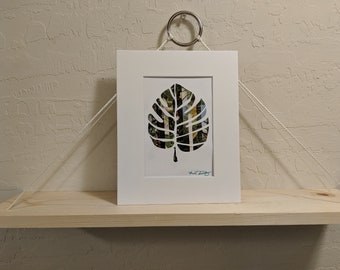 Tropical Leaf 1 Recycled Magazine Wall Art
