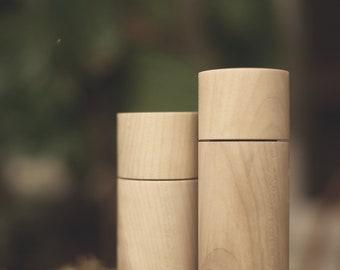 Maple Grinder Mills | Handmade Modern Hardwood Salt and Pepper Grinders