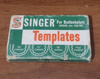 Vintage Singer Sewing Machine Templates for Buttonholers 160506 and 160743 Free Shipping