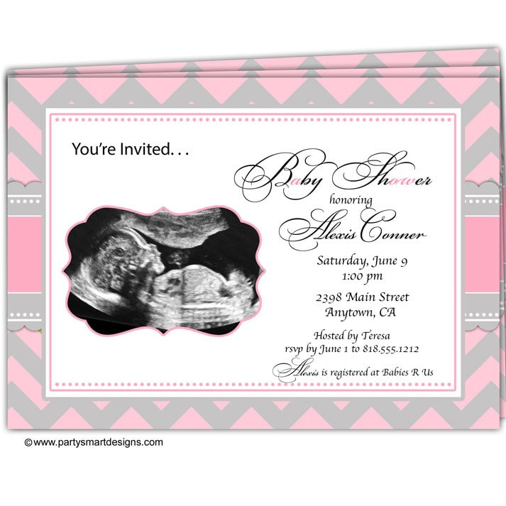 10 Sonogram Ultrasound Baby Shower InvitationsUltra Sound