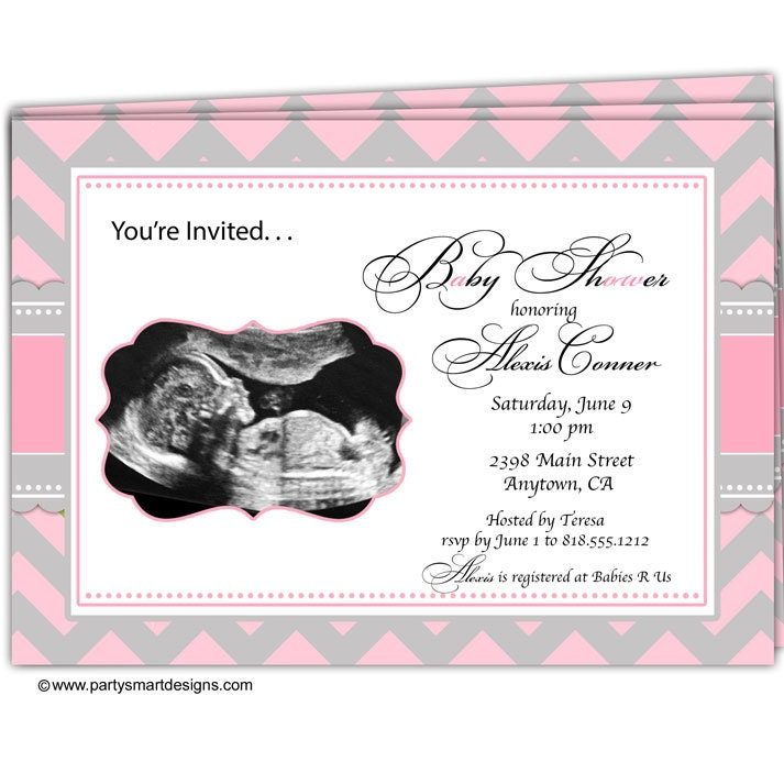 10 Sonogram Ultrasound Baby Shower Invitations/Ultra Sound