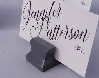 Cute Curves Weighted Place Card Holder -  Grey (Sample Quantities)