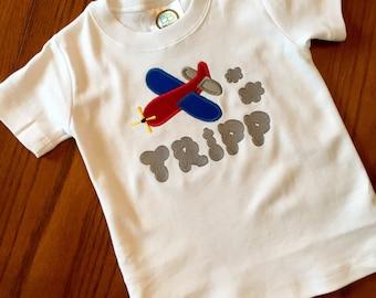 Little Boys' Appliqué Airplane T-Shirt
