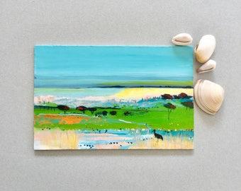 Australian landscape, Acrylic painting, Original Art, Small Landscape art, abstract art