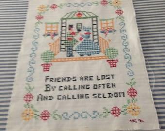 Cross stitch sampler - Friends