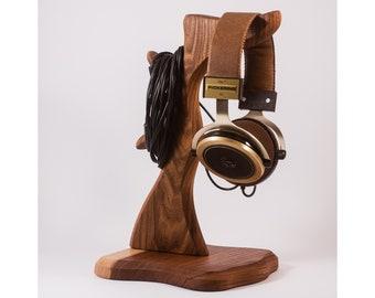 Porte-casque en bois, support casque, support casque