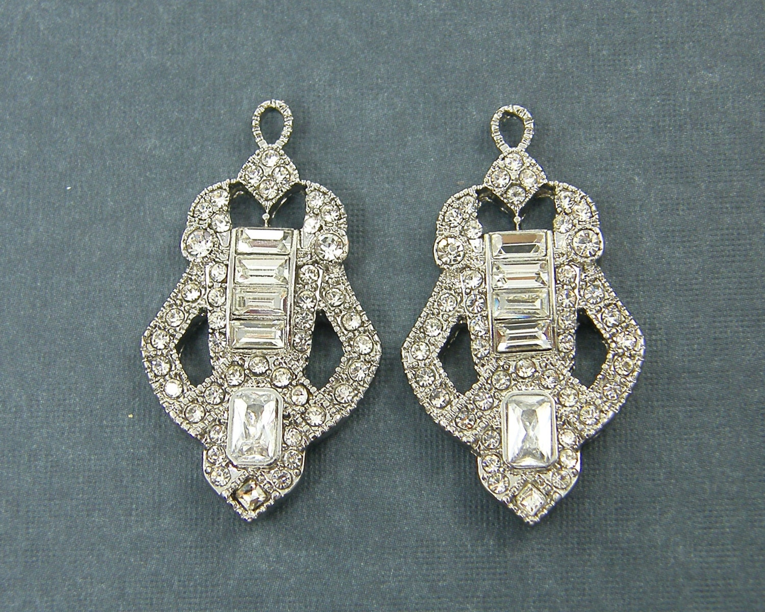 vintage art en mucha deco jewlery earrings alfons laurel jewelry